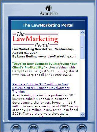 LawMarketing Portal on AvantGo.com