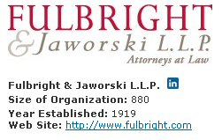 Fulbright &amp; Jaworski, law firm marketing