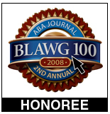 ABA Journal 2nd Annual Blawg 100 Honoree 2008