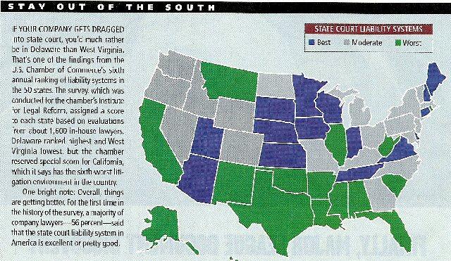 US Litigation Map