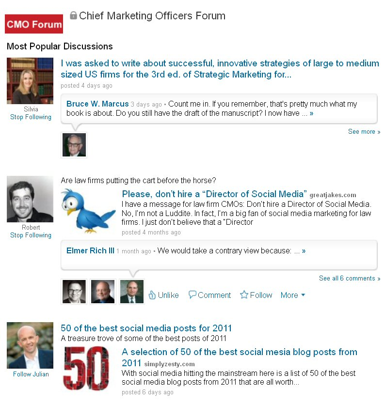 CMO Forum, chief marketing officers forum, LinkedIn