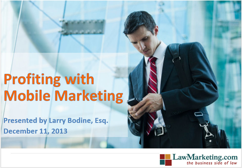 Profiting with Mobile Marketing