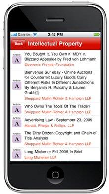 JDSupra iPhone app, law firm marketing