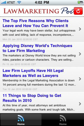 LawMarketing Portat iPhone app
