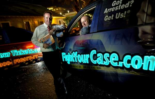 Lighted Vehicle Wrap Draws Clients To Florida Law Firm