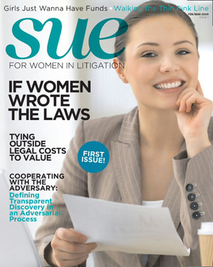 Sue magazine, law firm marketing