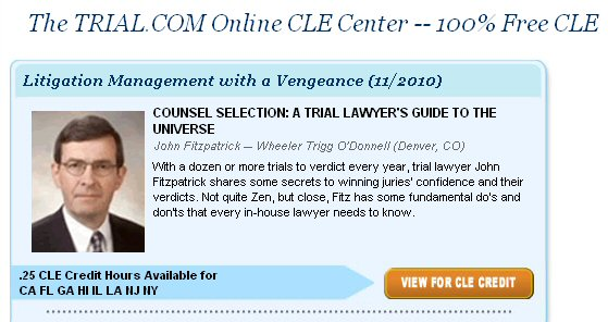 Trial.com online CLE center, Network of Trial Law Firms