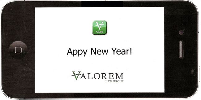 Appy New Year - Law Firm Marketing from Valorem Law Group