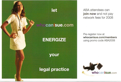 whocanisue, sexy nurses, law firm marketing