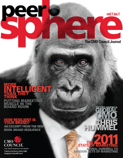 Peersphere magazine, CMO council, law firm marketing, legal marketing