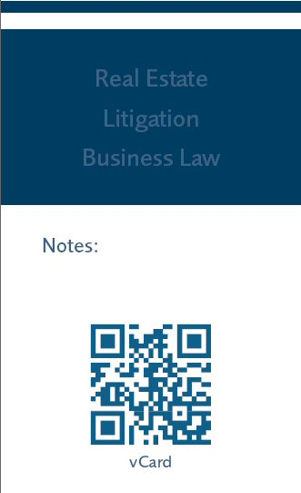 law firm business card, QR code, law firm marketing, legal marketing