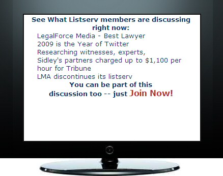 LawMarketing listserv