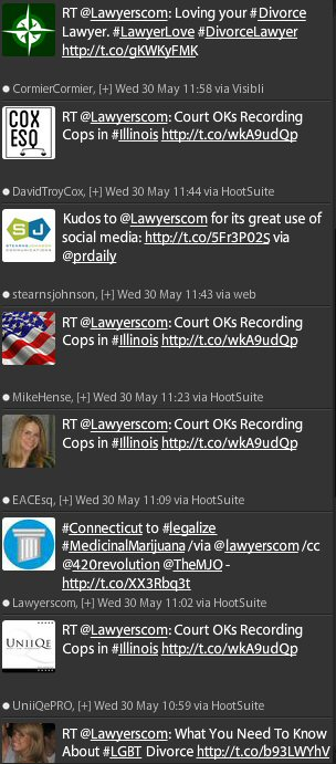 Twitter, lawyers.com, consumer clients, attorney marketing